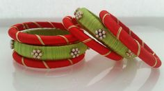 Handcrafted Silk Thread Bangles set Age(0 - 18 Months)