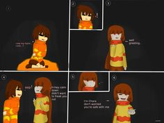 (made by me) it looks bad I know  FireTale page 1 chapter 1 : the ruine