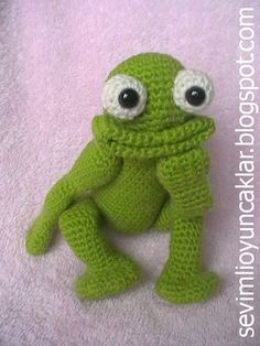 PATTERN DEAL  Buy 4 get 1 free !!  You can order any 4 pattern and get 1 free ...  Please advise your choise when purchasing.  -------------------------------------------------------------    Four-ways jointed funny,happy frog!    This listing is for an amigurumi pattern, not the finished toy.    The finished frog is approximately 10 (26 cm) tall.    Crochet pattern in pdf format, written in English, and emailed to you within 24 hours of your payment!    Please feel free to contact me for…