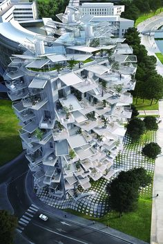 Sou Fujimoto baut in Montpellier / Baumhaus mit 17 Geschossen – Architektur und … Sou Fujimoto builds in Montpellier / Treehouse with 17 floors – Architecture and Architects – News / News / – News BauNetz. Architecture France, Zaha Hadid Architecture, Library Architecture, Architecture Sketchbook, Victorian Architecture, Modern Architecture House, Futuristic Architecture, Ancient Architecture, Sustainable Architecture
