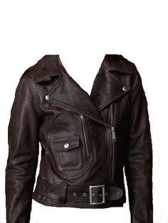 Ralph Lauren Women Africa Motorcycle Jacket Dark Brown Small S