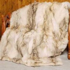 coyote dyed like wolf fur throw