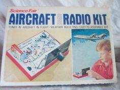 Aircraft Band Police Radio by Science Fair Vintage 1971 Unused Original Box   eBay