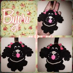 Uma #cocker pretinha da @mony_si ownt ^.^ gente não é uma fofurinha?! #bypri @bypri_  #feltro #feltropersonalizado #arte #artesanato #cocker #tecido #chaveirinho #chaveiro #petshop #dog  #cachorrinho #cachorro