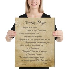 Serenity Prayer 16x20 Canvas Print | Netties Expressions