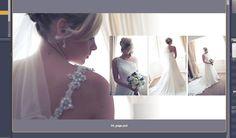 Album design natural light bride
