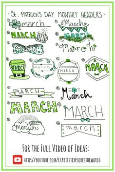 March monthly headers