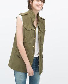 Image 2 of VINTAGE-STYLE PARKA VEST from Zara