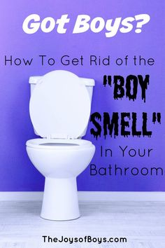 """How to get rid of the """"Boy Smell"""" in your bathroom. All Purpose cleaner and natural cleaner recipes that work to keep your bathroom smelling fresh!"""