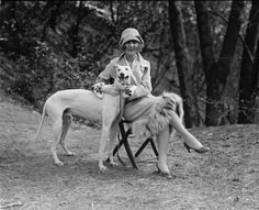 Margaret Gorman and her Greyhound