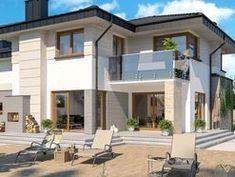 DOM.PL™ - Projekt domu ARP EMILIAN CE - DOM AP2-13 - gotowy koszt budowy Classic House Exterior, Modern Small House Design, Design Case, Construction, Villa, Mansions, House Styles, Outdoor Decor, Home Decor
