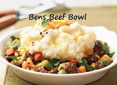 100 Ways To Prepare Hamburger | Hamburger Recipes : Bens Beef Bowl Recipe