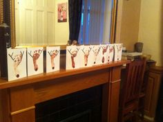 Reindeer footprint cards