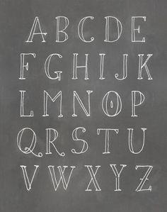 Alphabet Textual Art Paper Print