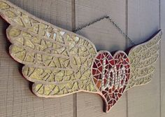 Hey, I found this really awesome Etsy listing at https://www.etsy.com/listing/211278899/extra-large-angel-winged-heart-mosaic