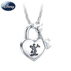Mickey Mouse Lock and Key Pendant