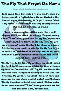 This is one of the best short funny stories for kids. Full story in link above, read now. English Stories For Kids, English Story, Kids English, English Reading, Short Funny Stories, Short Moral Stories, Funny Stories For Kids, What Is My Name, Powerpoint Background Design