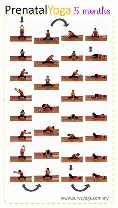 My Surya Yoga Baby: Prenatal Yoga Practice - 5 Months Pregnancy Announcement, Pregnancy Early Post Pregnancy Workout, Pregnancy Info, Pregnancy Health, Early Pregnancy, Pregnancy Photos, Prenatal Yoga Poses, Prenatal Workout, Pränatales Training, Yoga For Pregnant Women
