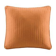 Orange throw pillow (2)
