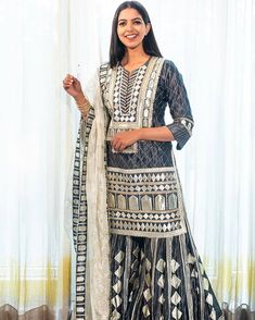 Best Labels To Buy Gorgeous Sharara Suits From! Indian Suits, Indian Wear, Bridesmaid Outfit, Bridesmaids, Sharara Suit, Indian Designer Wear, Western Wear, Casual Wear, Kimono Top