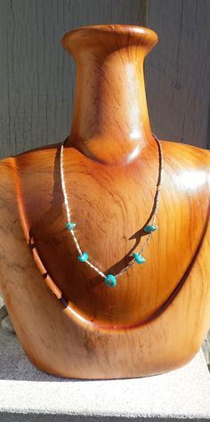 """Vintage Genuine Turquoise Nugget Chip & Liquid Sterling Silver 15"""" Choker Necklace 15 inch Southwest Native American Tribe Navajo Jewelry by TheFoxandFilly on Etsy"""