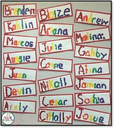 Rainbow Names- A great Fine Motor activity for the beginning of the school year, Spring or St. Patrick's Day!