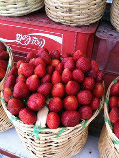Fresas de Irapuato Guanajuato, México. I remember getting these baskets when I was little.