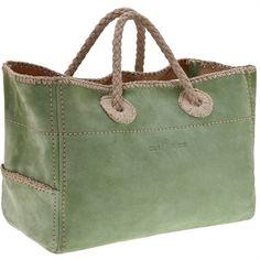 Car Shoe borsa primavera estate 2011 in suede verde | Redapple Fashion Magazine