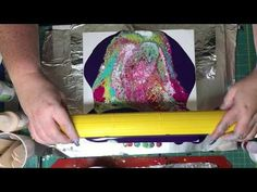Acrylic Pouring Swipe Demonstration for Fluid Art - YouTube