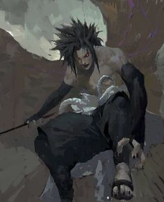 whenever sasuke activated his curse mark it freaked me out i mEAN LOOK AT HIM