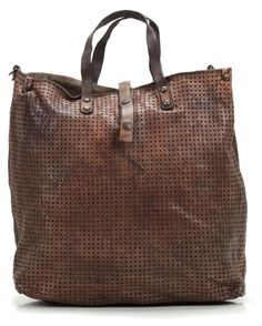 Lavata Tote Leather brown 36 cm