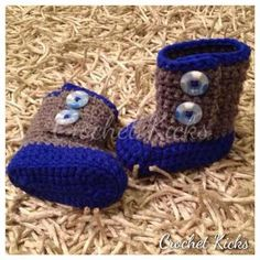 """""""IVAN/IVY BOOTIES""""-sold Baby Shoes, Slippers, Booty, Crochet, Ivy, Kicks, Fashion, Crocheting, Moda"""