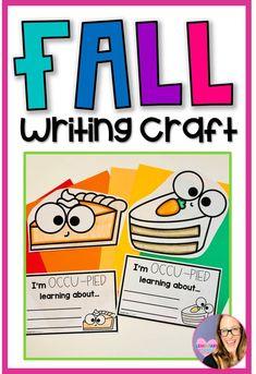 Fun Fall Activities, Color Activities, Fall Bulletin Boards, Close Reading, Elementary Teacher, Classroom Decor, Teacher Resources, Writing, Crafts