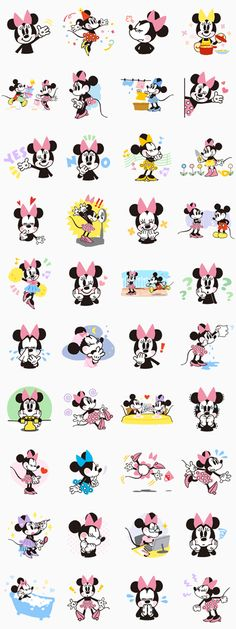 Mickey and Minnie Mouse