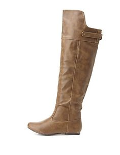 Qupid Flat Knee-High Boots: Charlotte Russe #charlotterusse #charlottelook