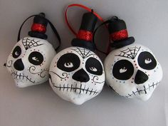 day of the dead holiday ornaments by amber leilani middleton
