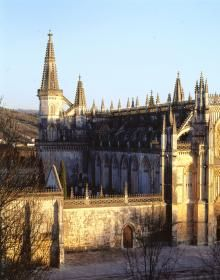 Mosteiro da Batalha, Portugal / Monastery of Batalha. Tags:  Architectural reference, church, places, travel, towers, portal, arch