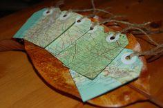 Map gift tags (inspiring)
