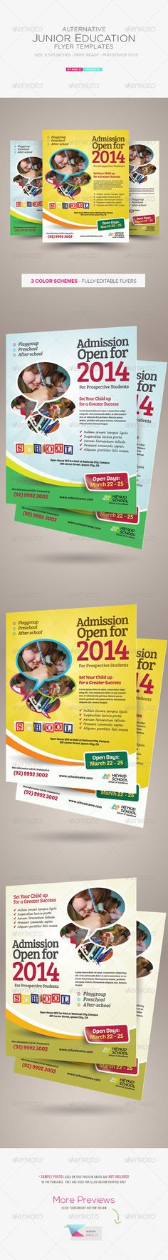 19 Best Preschool Flyer Design Ideas Images On Pinterest Flyer