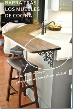 12 Inspired Tricks for Small Kitchen Designs Before and After kitchen renovation, DIY, two-tone, gray kitchen cabinets, butcher block countertop Grey Kitchen Cabinets, Diy Cabinets, Kitchen Redo, Kitchen Remodel, Kitchen Pass, Kitchen Ideas, Kitchen Countertops, Kitchen Island Raised Bar, Diy Butcher Block Countertops