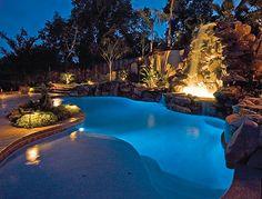 Custom Swimming Pools & Spa Sacramento, California (CA) - Geremia Pools Backyard Pool Designs, Pool Landscaping, Backyard Patio, Pool Spa, Building A Swimming Pool, Swimming Pools, Florida Pool, Lagoon Pool, Tropical Pool