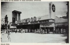 Vintage postcard: Hollywood on the Midway, State Fair, Fair Park, Dallas, Texas by coltera, via Flickr