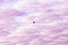 Hot Air Balloon Photograph {Blue Sky Purple Pink Dreamy Soft Cloud Rainbow Artwork Art Canvas Picture Photo Print Photography Nursery Decor} by KimDunlapPhotography on Etsy https://www.etsy.com/listing/236174132/hot-air-balloon-photograph-blue-sky
