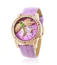 2012 Style Dragonfly Design Women's Fashion Crystal Watch