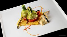 Vegan Dishes, White Asparagus Vegan Dish by Alberto Quadrio