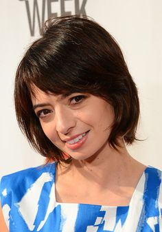 Kate Micucci Short cut with bangs - Short Hairstyles Lookbook - StyleBistro