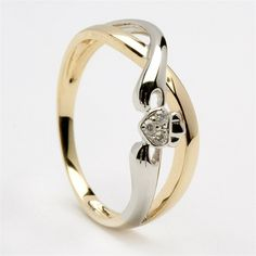 Ladies Diamond Claddagh Ring R136