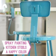 Spray painting tips. To use with kitchen table and chairs.