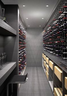 Cable Wine System Wine Cellar by {wine glas.- Cable Wine System Wine Cellar by {wine glass writer} Cable Wine System Wine Cellar by {wine glass writer} - Wine Cellar Design, Wine Design, Wine Cellar Modern, Caves, Home Wine Cellars, Wine Display, Wine Wall, Italian Wine, Wine Storage