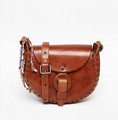 Hiptipico Leather Hand Crafted Half Moon Saddle Crossbody Bag
